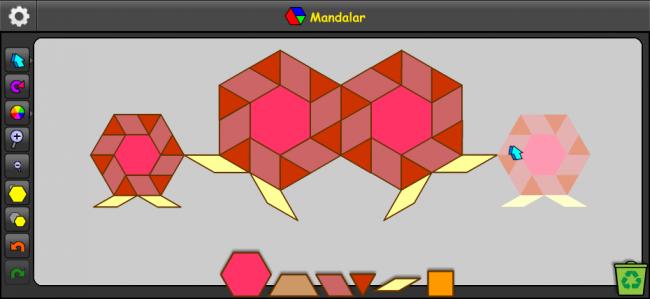 Mandalar app - shape blocks math manipulative and creative play